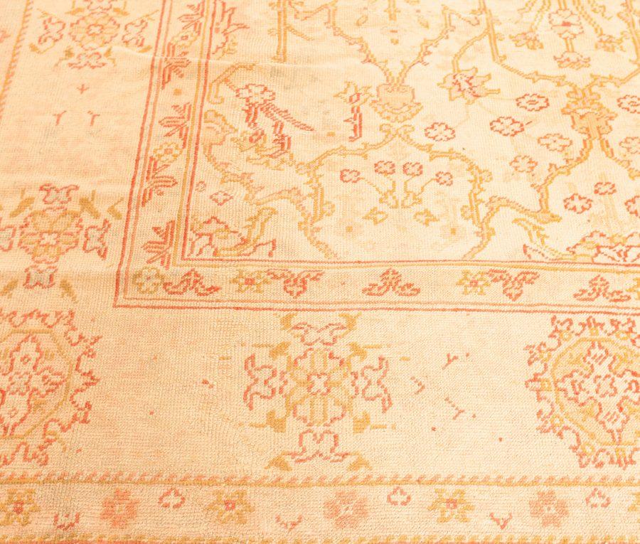 Antique Turkish Oushak Pale Golden Yellow Handwoven Wool Carpet BB1614