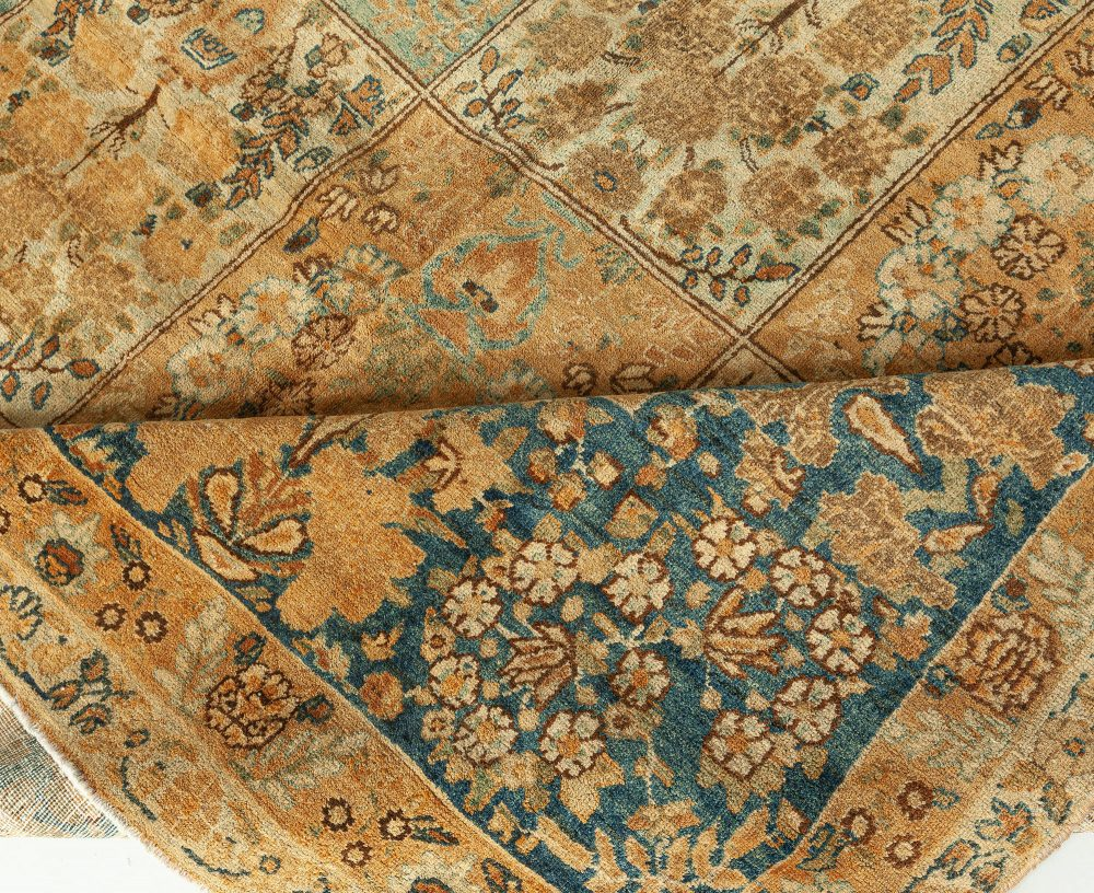 19th Century Persian Tabriz Light Blue, Ivory and Beige Rug BB1625