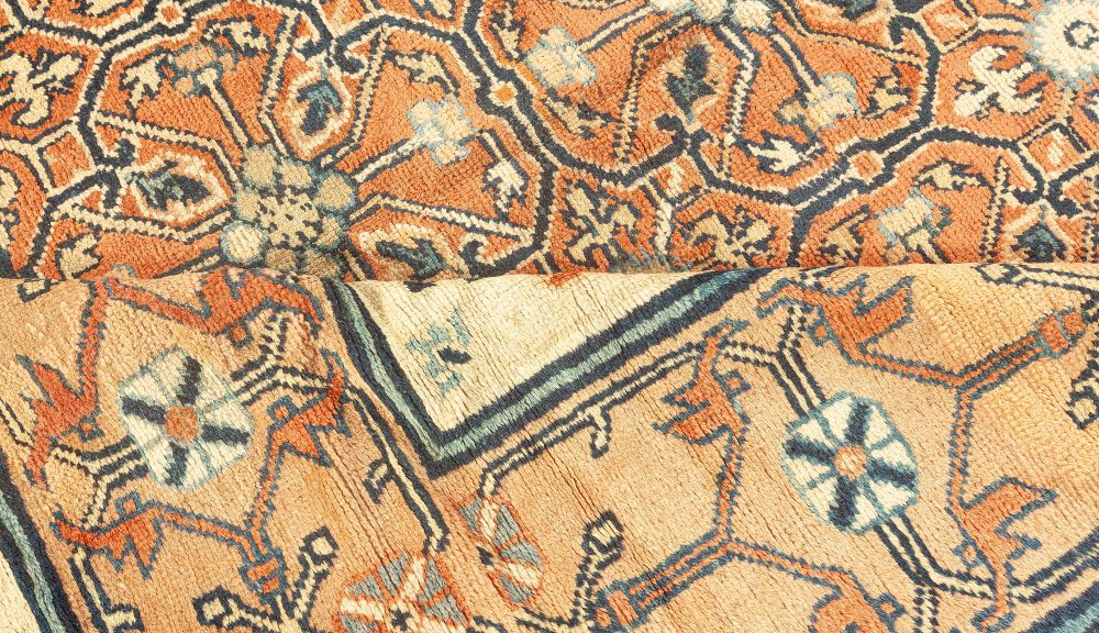 19th Century Central Asian Khotan Samarkand Handwoven Wool Carpet BB1643