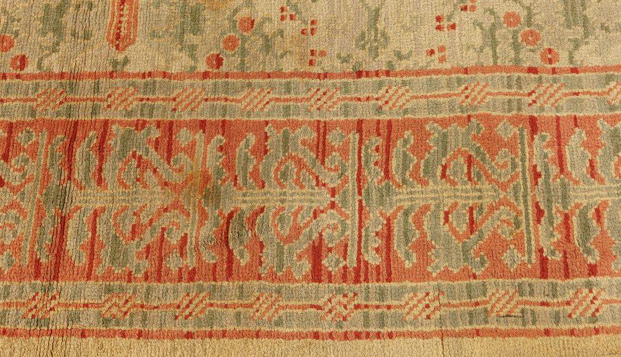 Midcentury Spanish Floral Handwoven Wool Carpet BB2525