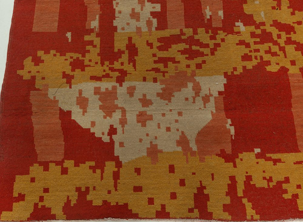 20th Century French Modernist Wool Rug BB3141