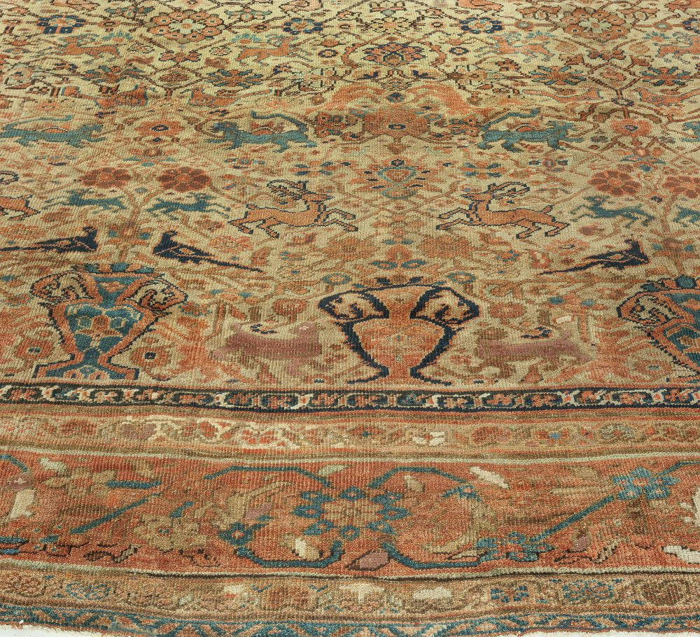 Late 19th Century Antique Persian Sultanabad Area Rug BB3595