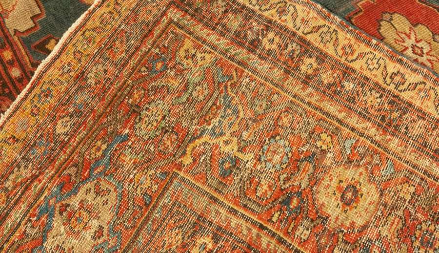 Antique Sultanabad Blue Rug BB4331