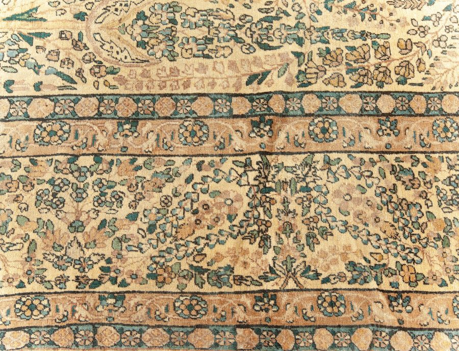 Antique Persian Kirman Handwoven Wool Carpet BB5565