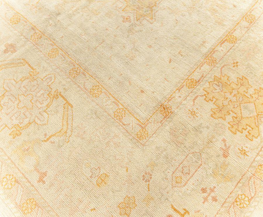 Antique Turkish Oushak Beige Rug BB5668
