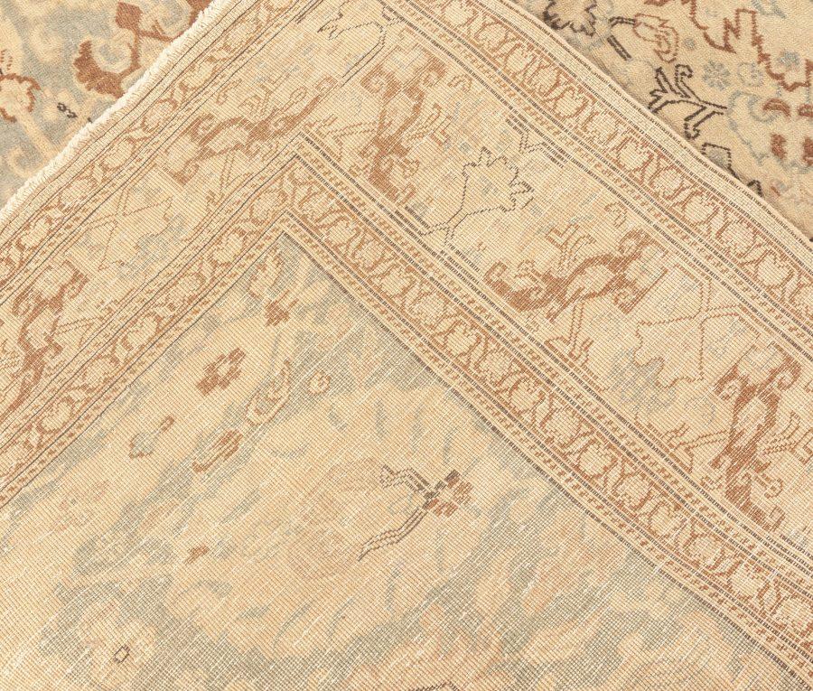 Antique Turkish Sivas Blue, Taupe and Beige Handwoven Wool Rug BB5710
