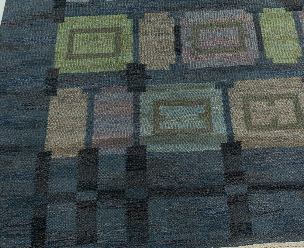 "Mid-century ""Spice Hall"" Swedish Rug in Pastel Tones by Judith Johansson BB6016"