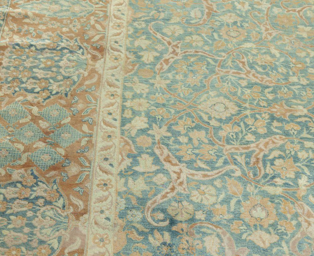 Persian Kirman Blue Rug BB7567