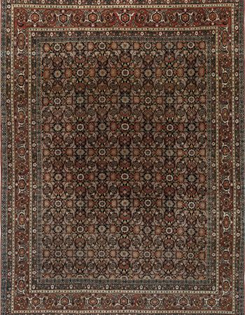 Antique Turkish Oushak Light Rose Handwoven Wool Rug BB6770