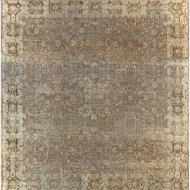 High-quality Oversized Antique Indian Agra Carpet BB7499