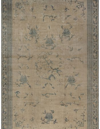 Colorful Antique Indian Handwoven Wool Carpet BB5601