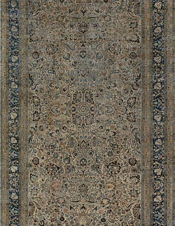 Vintage Persian Bakhtiari Blue and Camel Handwoven Wool Rug BB7288