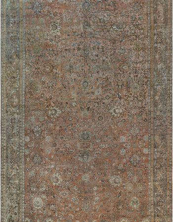 19th Century Round Silk and Metal Turkish Rug BB6632