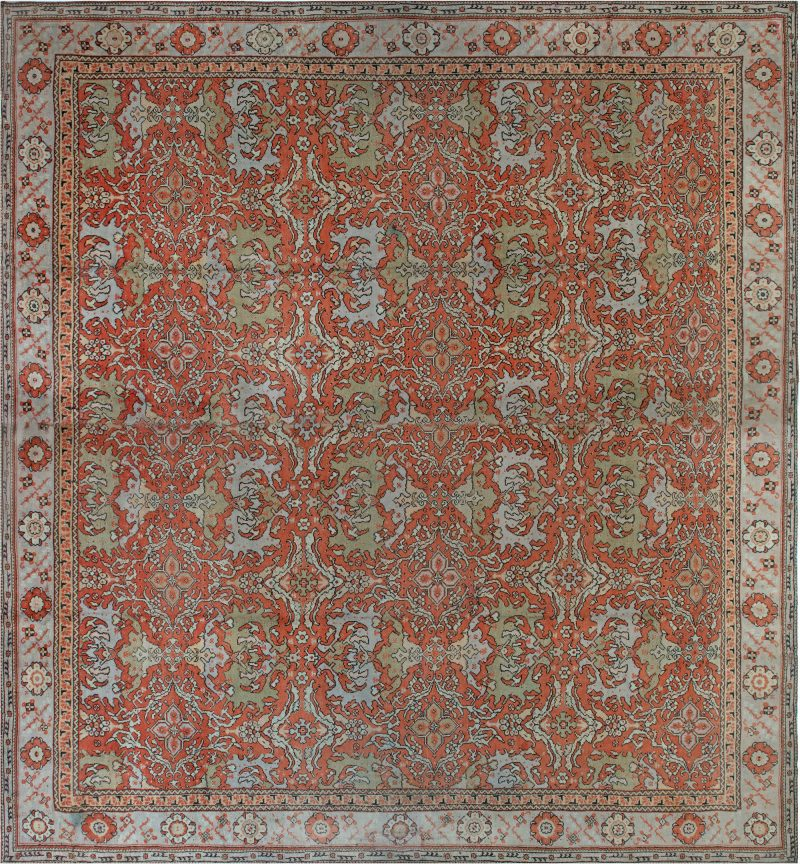 Oversized Vintage English Axminster Carpet Bb1796 By Doris