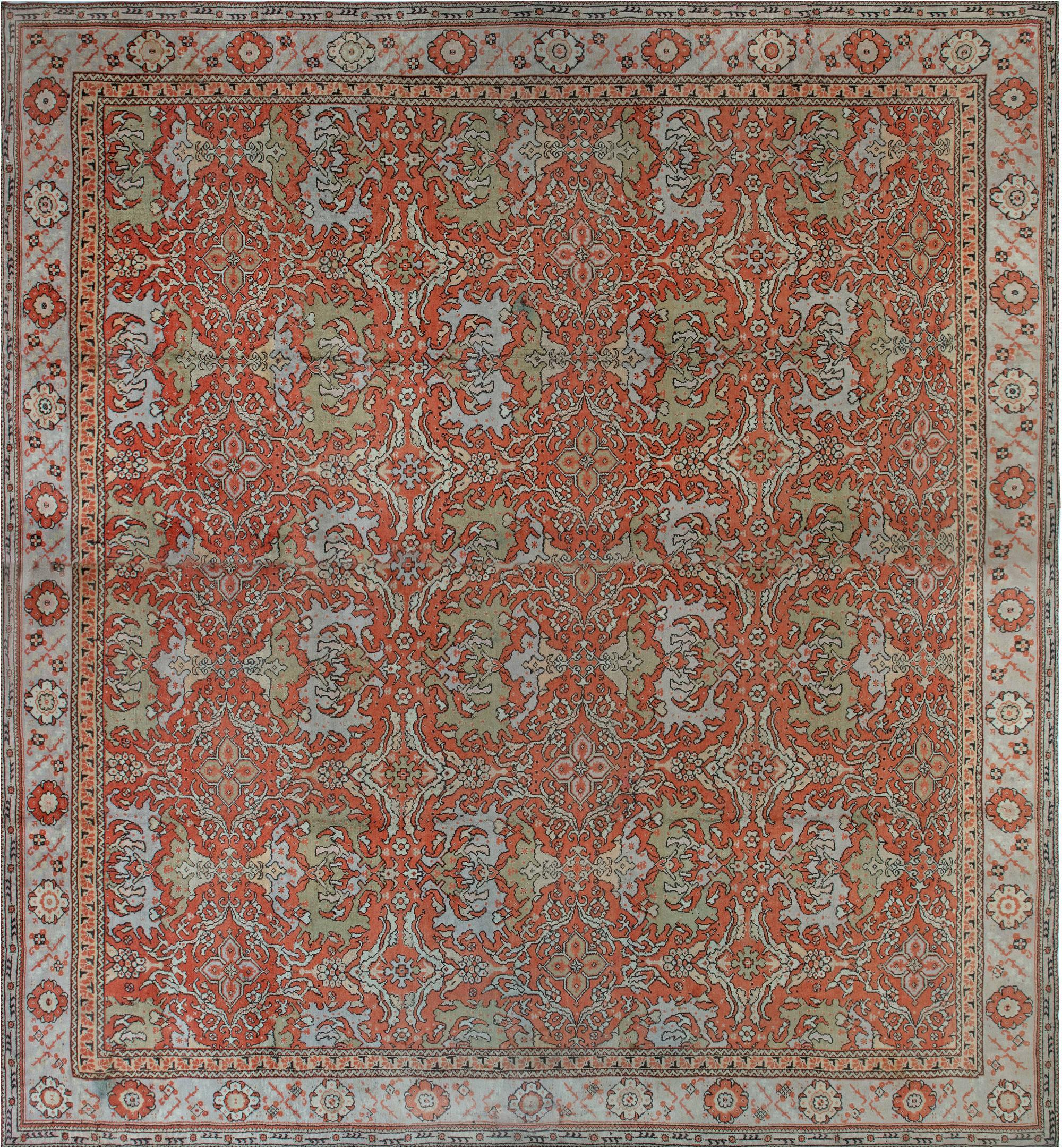 Oversized Vintage English Axminster Carpet BB1796