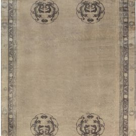 Vintage Camel and Brown Chinese Wool Rug BB7116