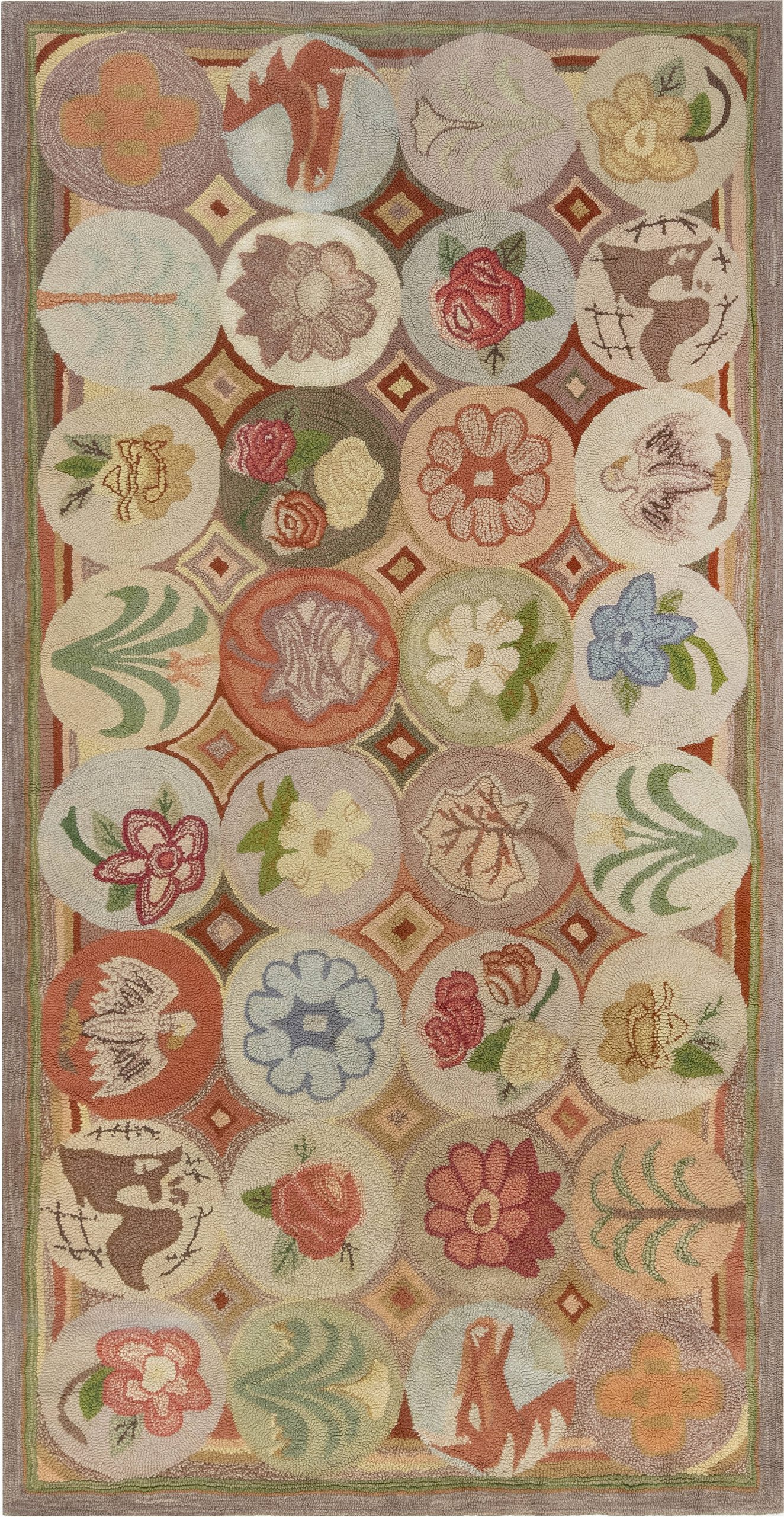 Hooked Botanic Hand Knotted Wool Rug