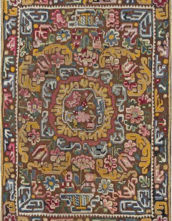 Antique English  Needlework Carpet BB6486