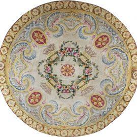 Savonnerie Style Spanish Circular Rug BB7388
