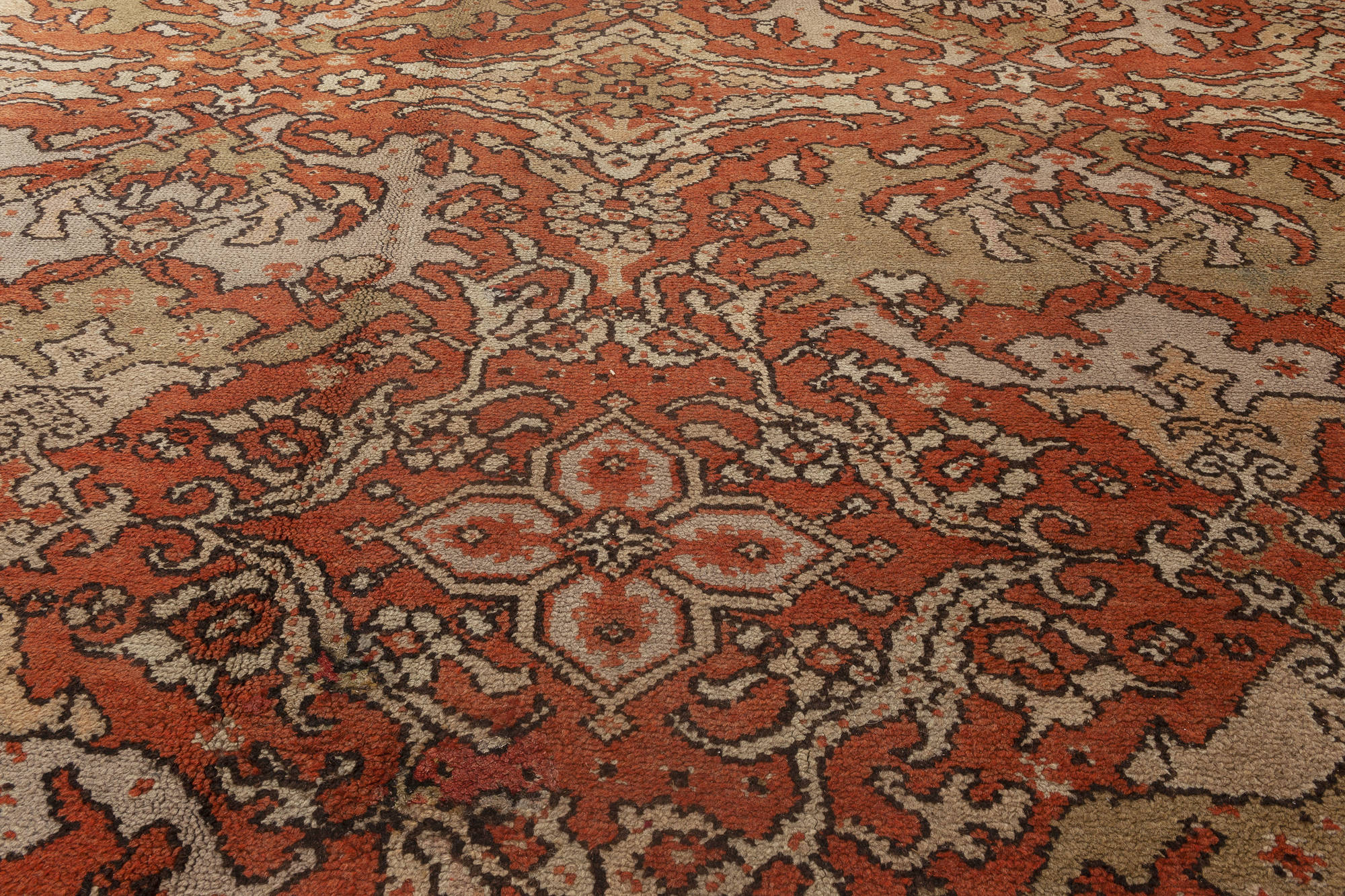 Oversized Vintage English Axminster Carpet Bb1796 By Dlb