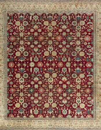 Antique Indian Agra Rug BB4353