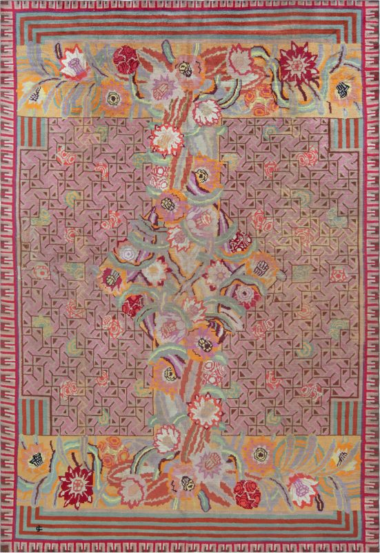 Vintage French Art Deco Rug designed by Jules Coudyser BB1263