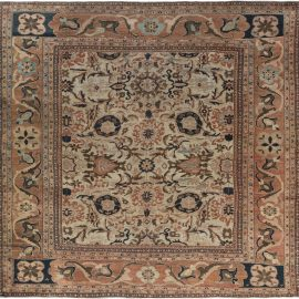 19th Century Persian Sultanabad Handwoven Wool Carpet BB7194