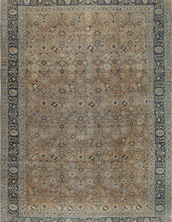 Contemporary Efflorescence Green and White Silk and Cotton Rug N11762