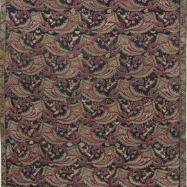 Caucasian Karabagh Midnight Blue, Red and Yellow-Green Rug BB2552