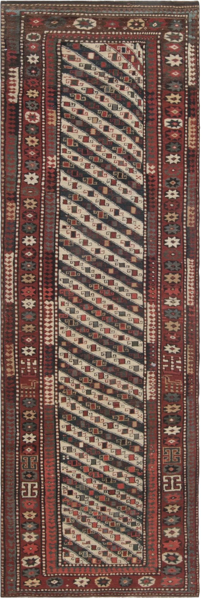 Antique Caucasian runner BB2779