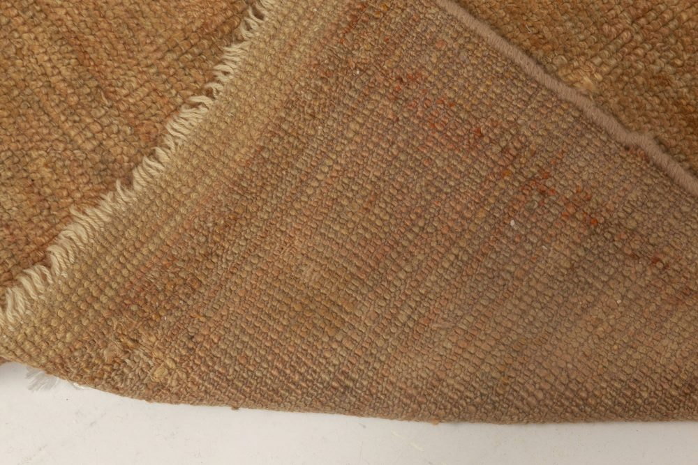 Vintage Turkish Oushak Brown Runner (Size Adjusted) BB5619