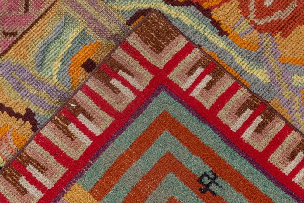 High-quality Vintage French Art Deco Rug designed by Jules Coudyser BB1263