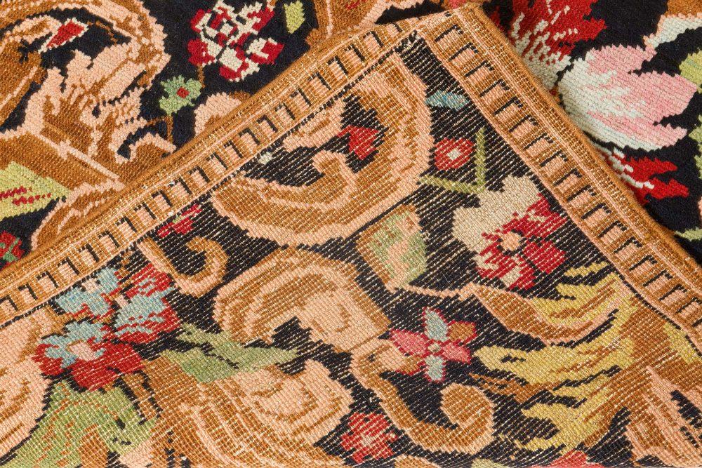 Antique Karabagh Floral Colorful Handwoven Wool Rug BB7074