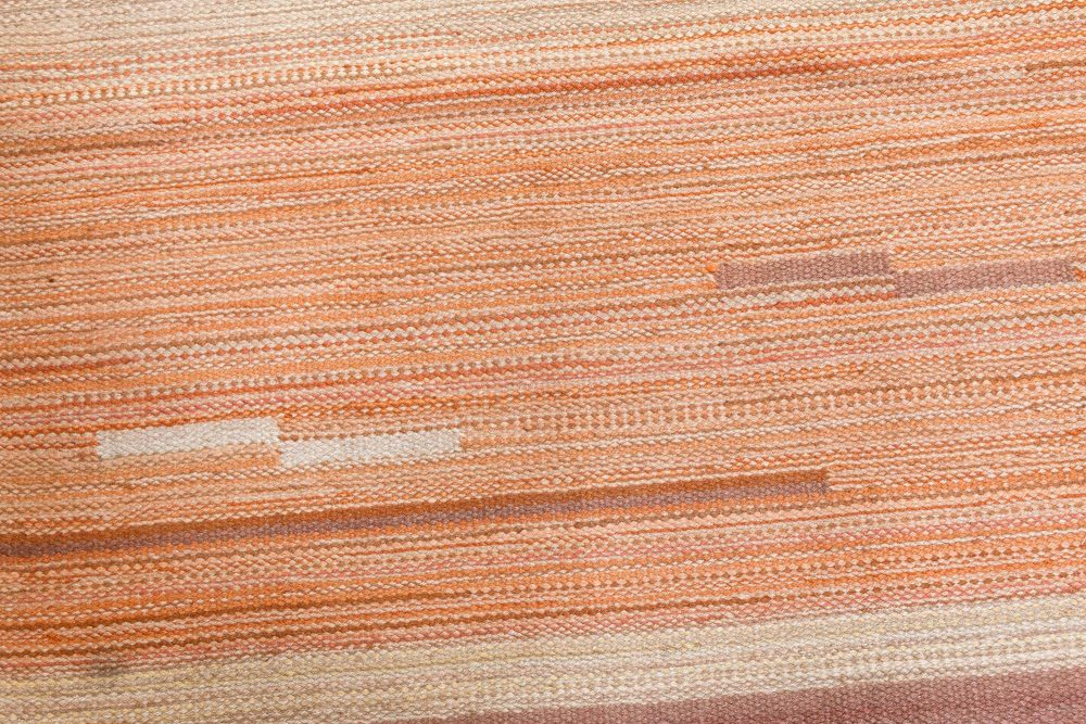 Vintage Hand-woven Art Deco Style Scandinavian Rug BB7088