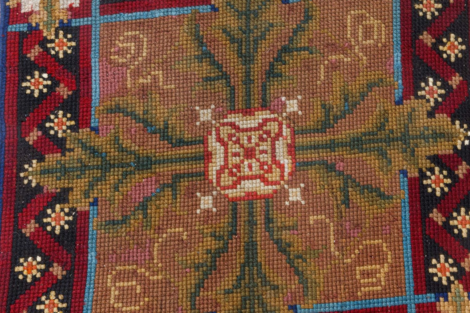 Antique English Needlepoint runner BB7093
