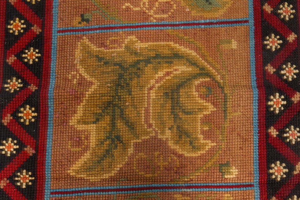 Antique English Needlepoint runner BB7093