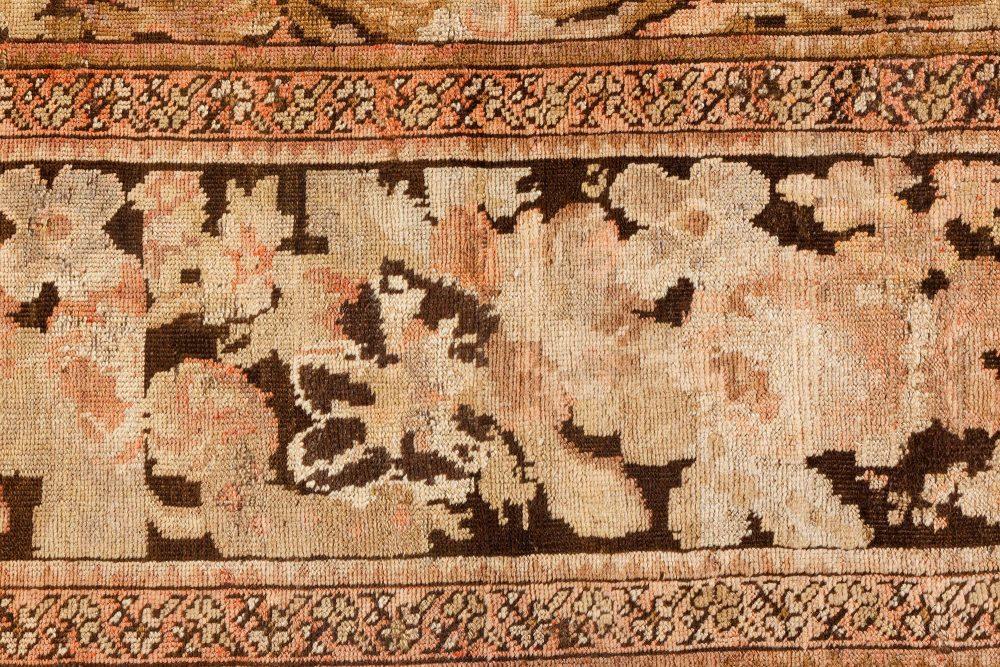 Antique Karabagh Pinkish Brown Handwoven Wool Rug BB7095