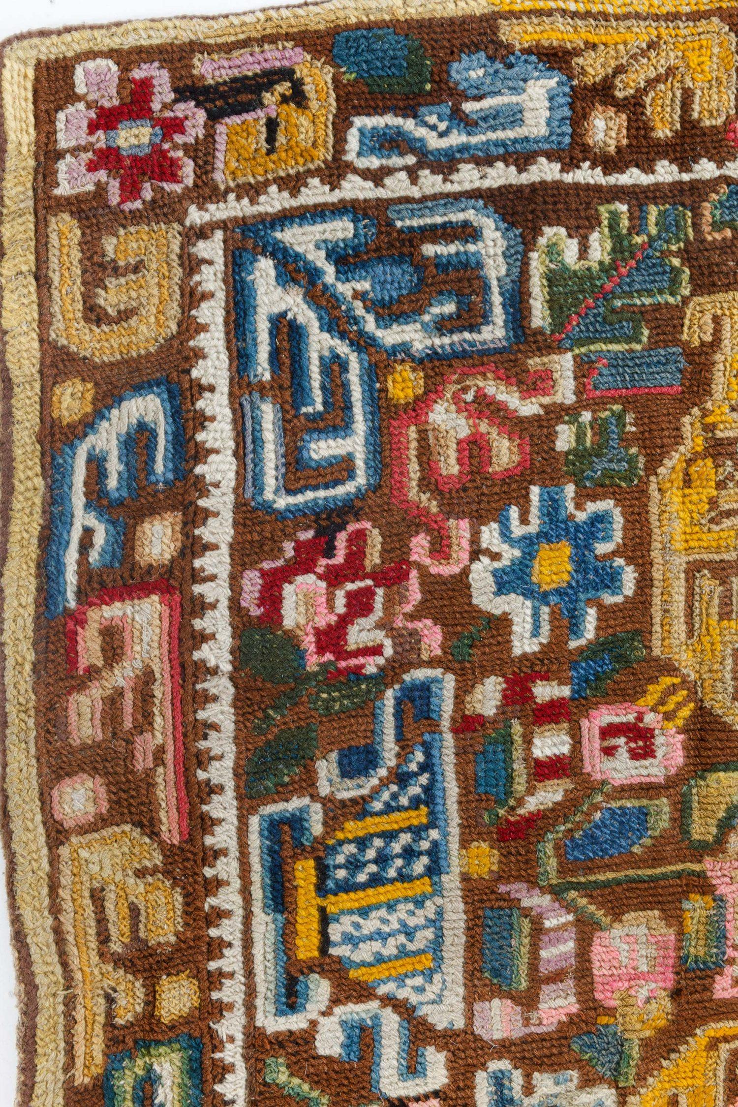 Antique Needlework Carpet BB7106