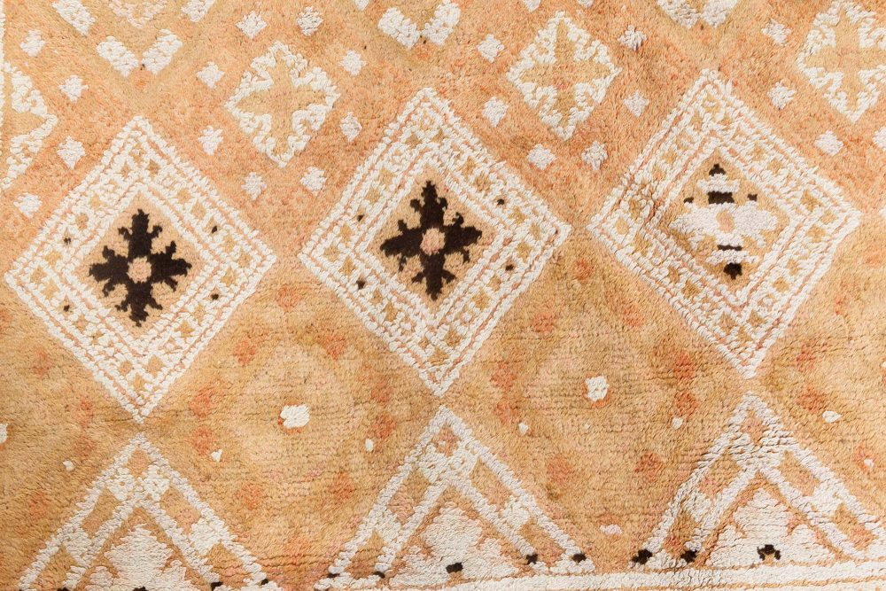 Antique Indian Hand Knotted Cotton Agra Rug BB7120