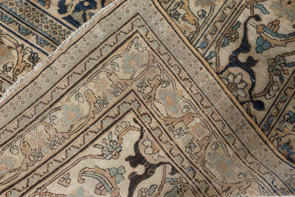Meshad Botanic Handwoven Wool Rug in Sand Turtle Shades BB7123
