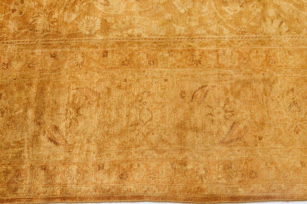 19th Century Persian Tabriz Pale Honey Handwoven Wool Rug BB7128