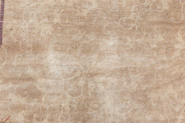 Vintage Chinese Art Deco Brown Handwoven Wool Rug BB7130