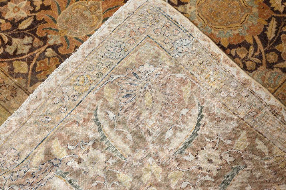 One-of-a-kind Persian Tabriz Handwoven Wool Carpet BB7143