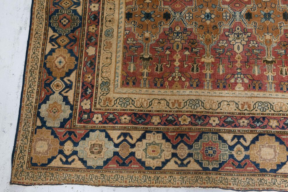 Antique Indian Hand Knotted Cotton Carpet BB7238