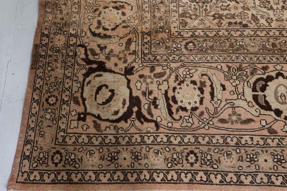 Antique Persian Tabriz Handwoven Wool Carpet BB7282