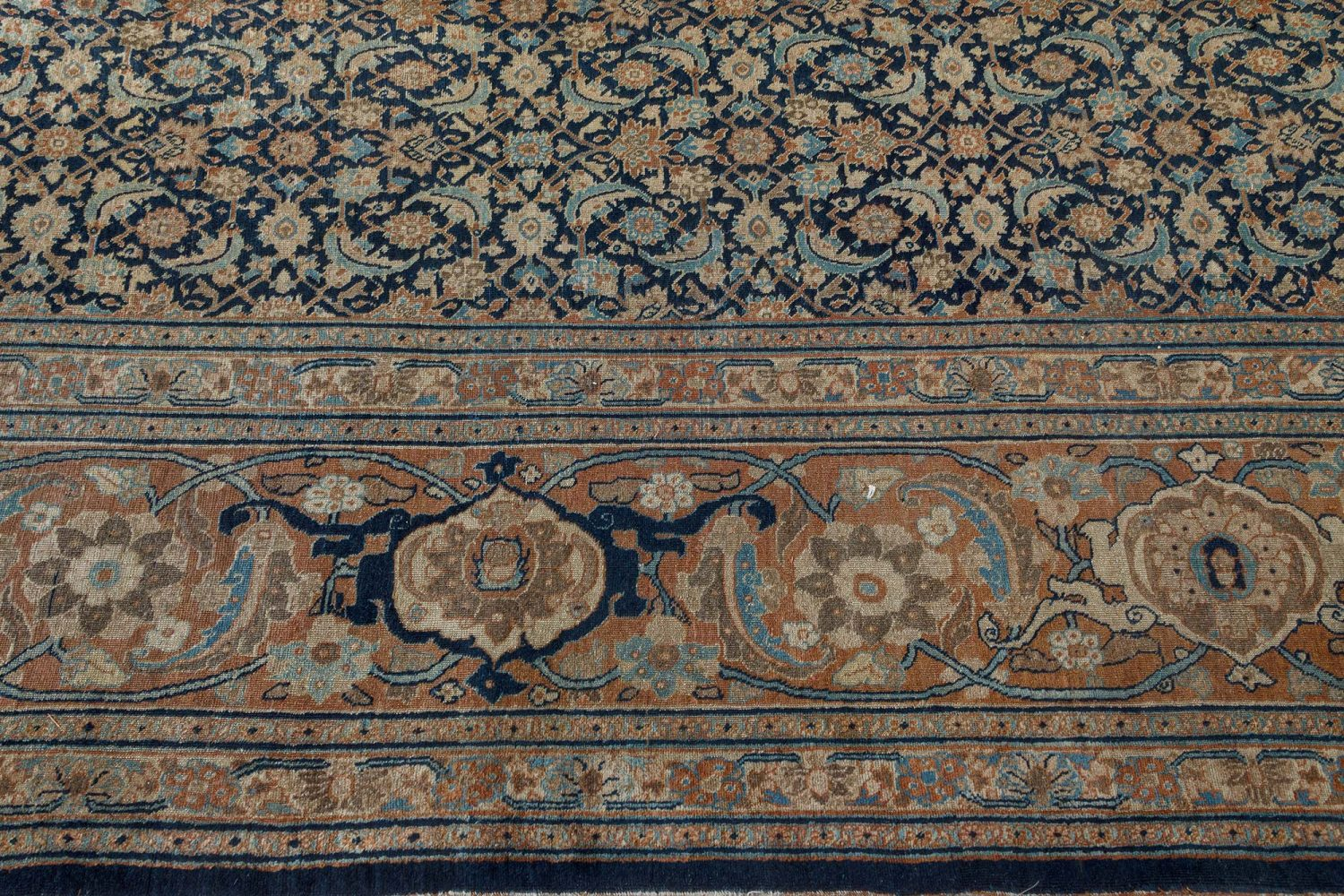 Vintage Persian Tabriz Carpet BB7383