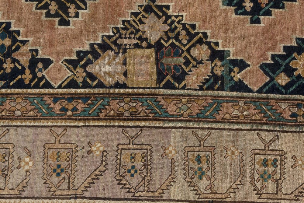 19th Century Russian Karabagh Hand Knotted Wool Carpet BB7386