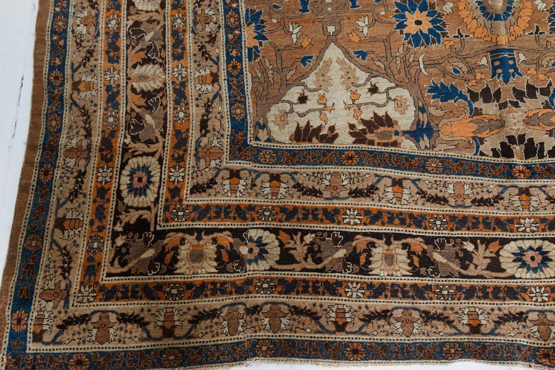Vintage Persian Tabriz Carpet (Size Adjusted) BB7391