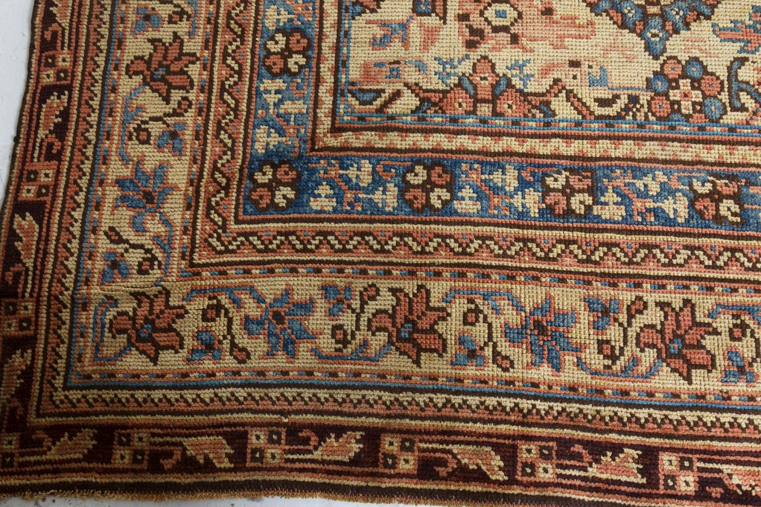 Antique Turkish Oushak Carpet BB7394
