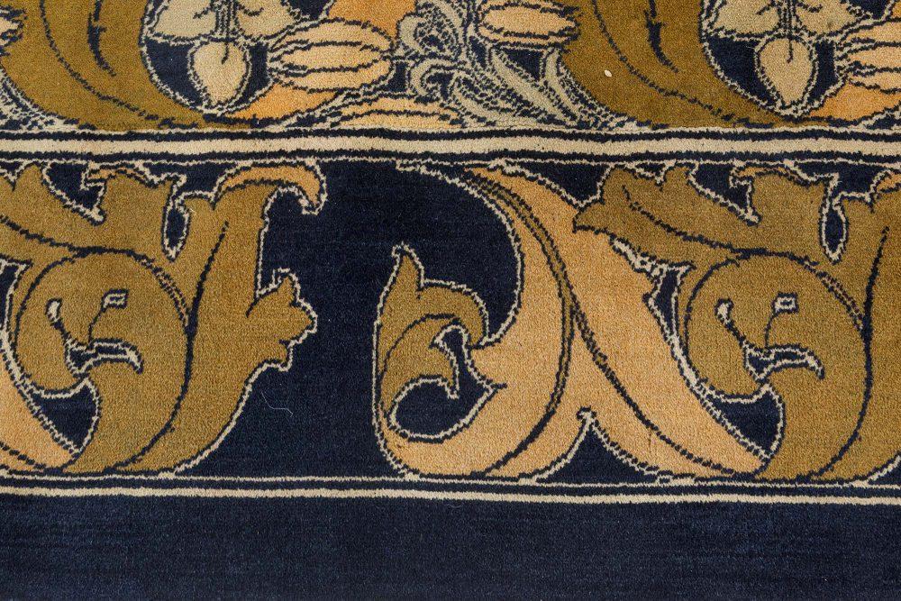 Vintage Arts and Crafts Voysey Rug (Size Adjusted) BB7412